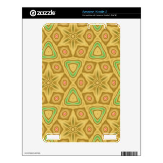 Bright Yellow pattern Decal For Kindle