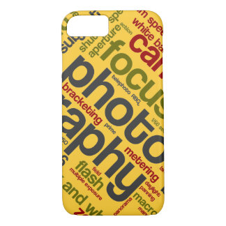 Bright Yellow Photographer Text iPhone 7 Case