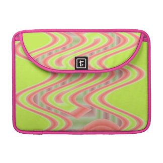 bright yellow pink retro abstract sleeve for MacBooks
