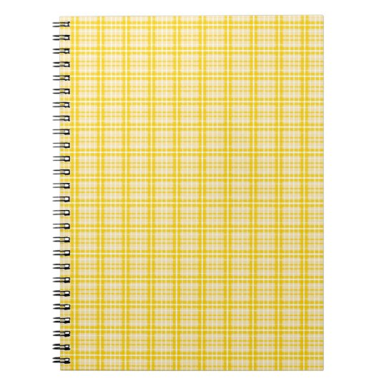 Bright Yellow Plaid Spiral Notebook