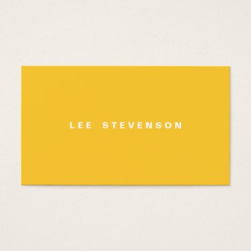 Professional Business Bright Yellow Plain Business Card
