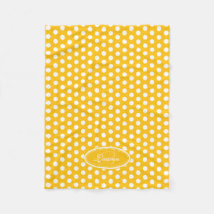 c5fc4716cf9 Make Your Own White Yellow Polka Dots Blanket - Bundle Up In Yours ...