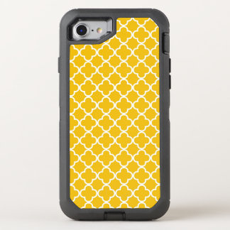 Bright Yellow Quatrefoil Pattern OtterBox Defender iPhone 8/7 Case