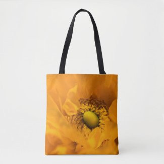 Bright Yellow Ranunculus Tote