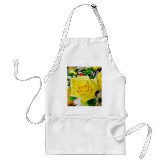 Bright Yellow Rose Adult Apron
