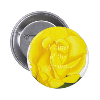 Bright Yellow Rose, Mother of the groom, button