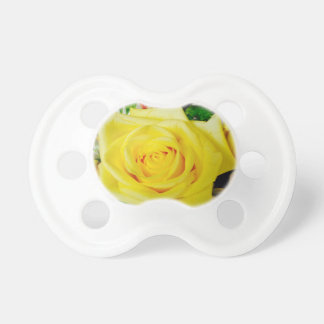 Bright Yellow Rose Baby Pacifier