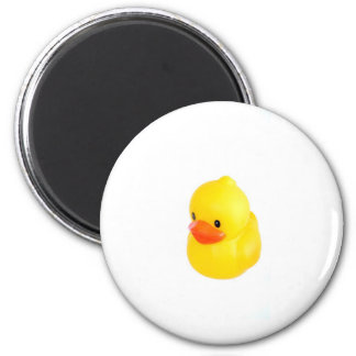 Bright Yellow Rubber Duck Refrigerator Magnet