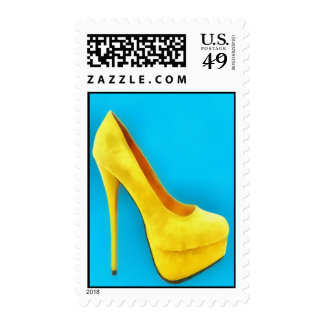 Bright Yellow Shoe Painting Stamps