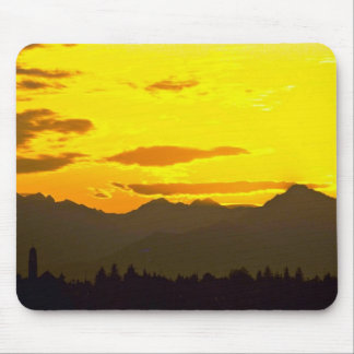 Bright Yellow Sky Mouse Pad