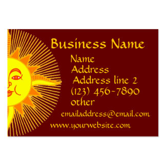 Bright Yellow Smiling Sun Business Cards