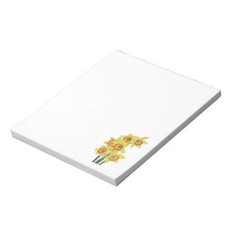 Bright Yellow Spring Daffodils Notepad