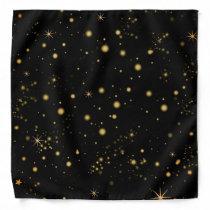 Bright Yellow Stars Night Sky Bandana