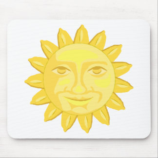 bright yellow sun graphic mouse pad
