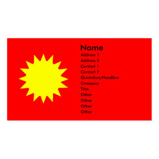 Bright Yellow Sun on Red Tanning Salon Double-Sided Standard Business Cards (Pack Of 100)