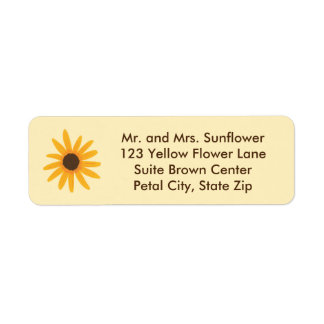 Bright Yellow Sunflower Address Labels