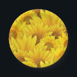 "Bright Yellow Sunflower Daisy Floral Pattern Paper Plate<br><div class=""desc"">Looking for a way to add some sunshine and cheer to your home? Sparkle Motion&#39;s new photographic yellow sunflower pattern is perfect for creating happiness. This sunflower paper plate is the perfect accent for your summer garden party! On a variety of party supplies and home decor, bring the summer into...</div>"