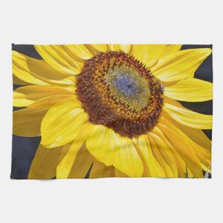 Bright yellow sunflower hand towels