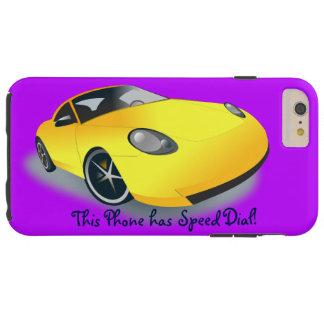 Bright Yellow Superfast Sports Car Designer Case Tough iPhone 6 Plus Case