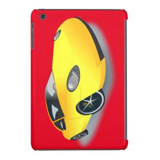Bright Yellow Superfast Sports Car Designer Case iPad Mini Case