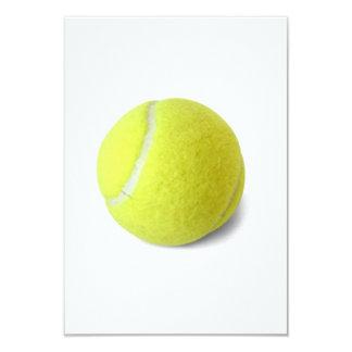 Bright yellow tennis ball sports custom invite