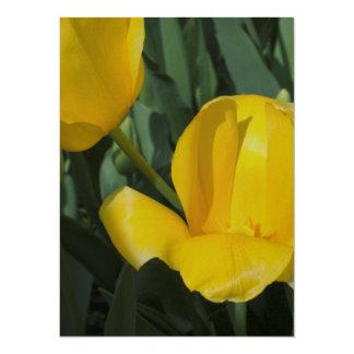 Bright Yellow Tulips Card