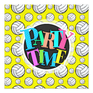 Bright Yellow Volleyball Pattern Card