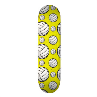 Bright Yellow Volleyball Pattern Skate Board Deck