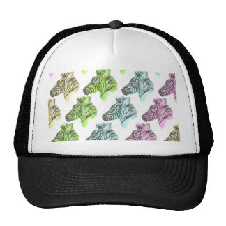 Bright Zebra Pattern Cap Trucker Hat