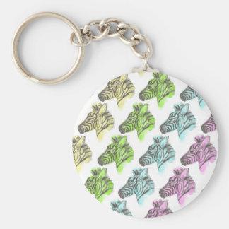 Bright Zebra Pattern Keychain