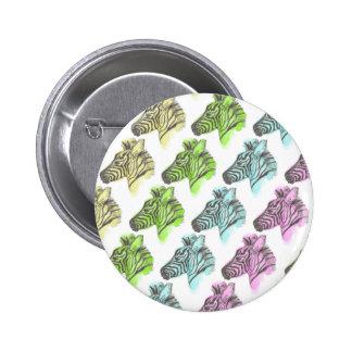 Bright Zebra Pattern Round Button Badge
