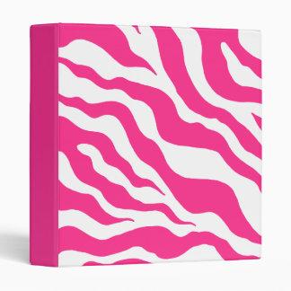 Bright Zebra Print Binder