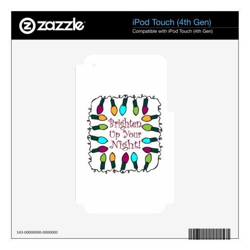 Brighten Up iPod Touch 4G Decals