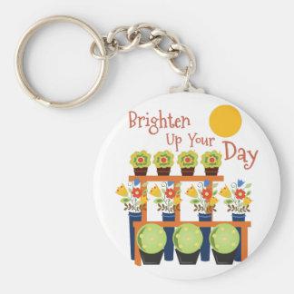 Brighten Your Day Basic Round Button Keychain