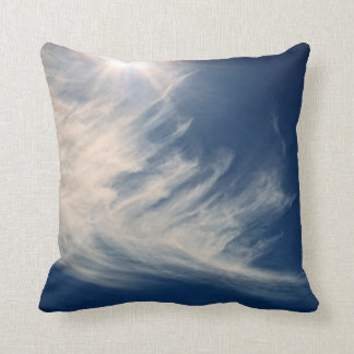Brighten your Day!  Luminous Sun and Clouds Throw Pillow