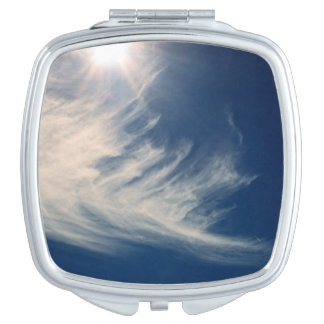 Brighten your Day!  Luminous Sun and Clouds Vanity Mirror