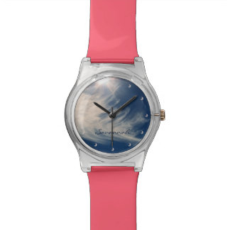 Brighten your Day!  Luminous Sun and Clouds Wristwatches