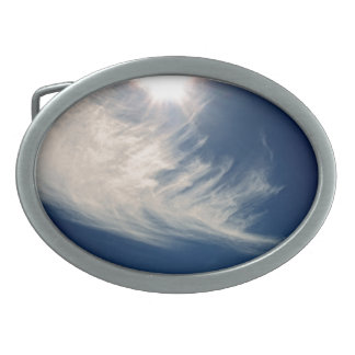 Brighten your Day!  Luminous Sun and Wispy Clouds Belt Buckle