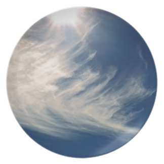 Brighten your Day!  Luminous Sun and Wispy Clouds Dinner Plate