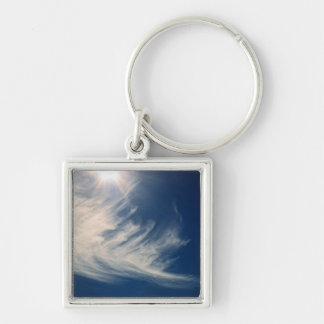 Brighten your Day!  Luminous Sun and Wispy Clouds Keychain