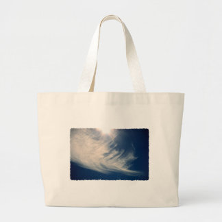 Brighten your Day!  Luminous Sun and Wispy Clouds Large Tote Bag