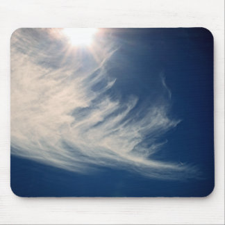 Brighten your Day!  Luminous Sun and Wispy Clouds Mouse Pad