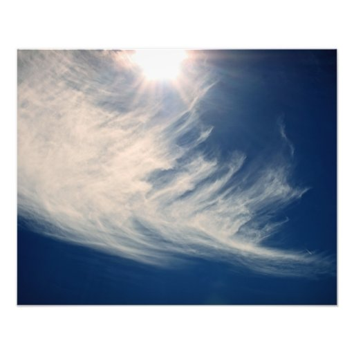 Brighten your Day!  Luminous Sun and Wispy Clouds Photographic Print