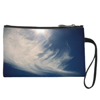 Brighten your Day!  Luminous Sun and Wispy Clouds Wristlet Wallet