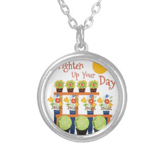 Brighten Your Day Round Pendant Necklace
