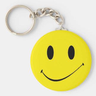 Brighten Your Day ~ Vintage Retro Smiley Face Basic Round Button Keychain