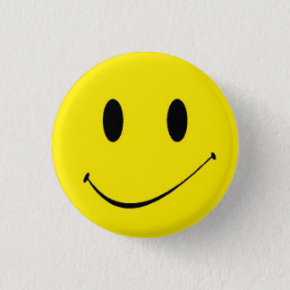 Brighten Your Day ~ Vintage Retro Smiley Face Button