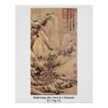 Brightening After Snow In A Mountain By T'Ang Yin Posters