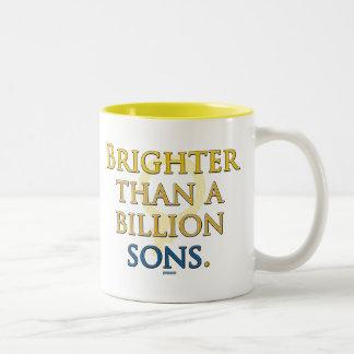 Brighter than a Billion Sons Two-Tone Coffee Mug