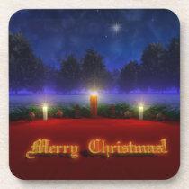 Brighter Visions Christmas Cork Coaster